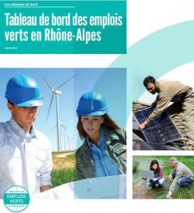tableau de bord emplois verts en Rhone-Alpes